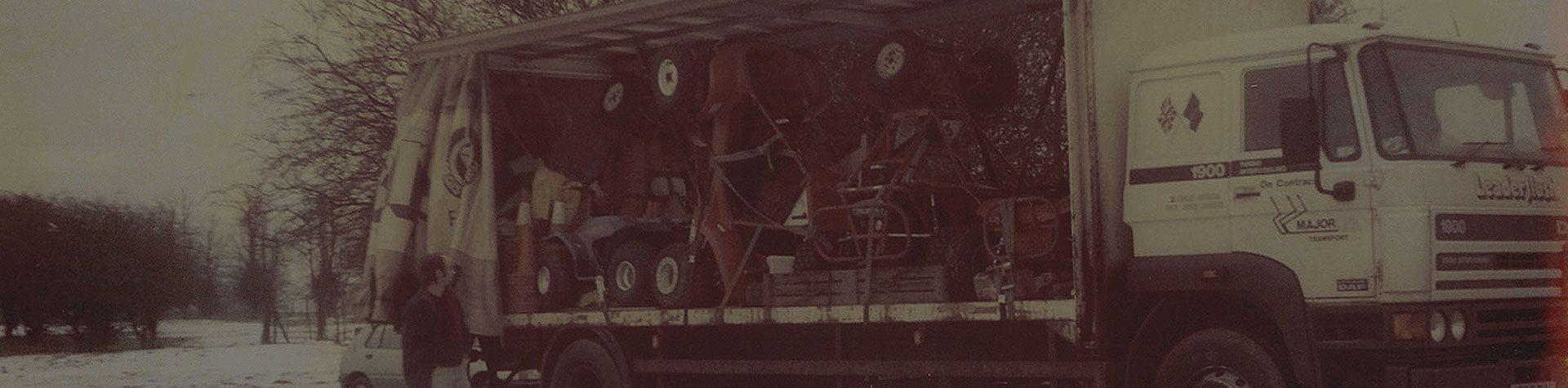 Off Limits unloading quad bikes off lorry