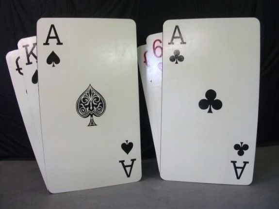 Giant 3D Playing Cards