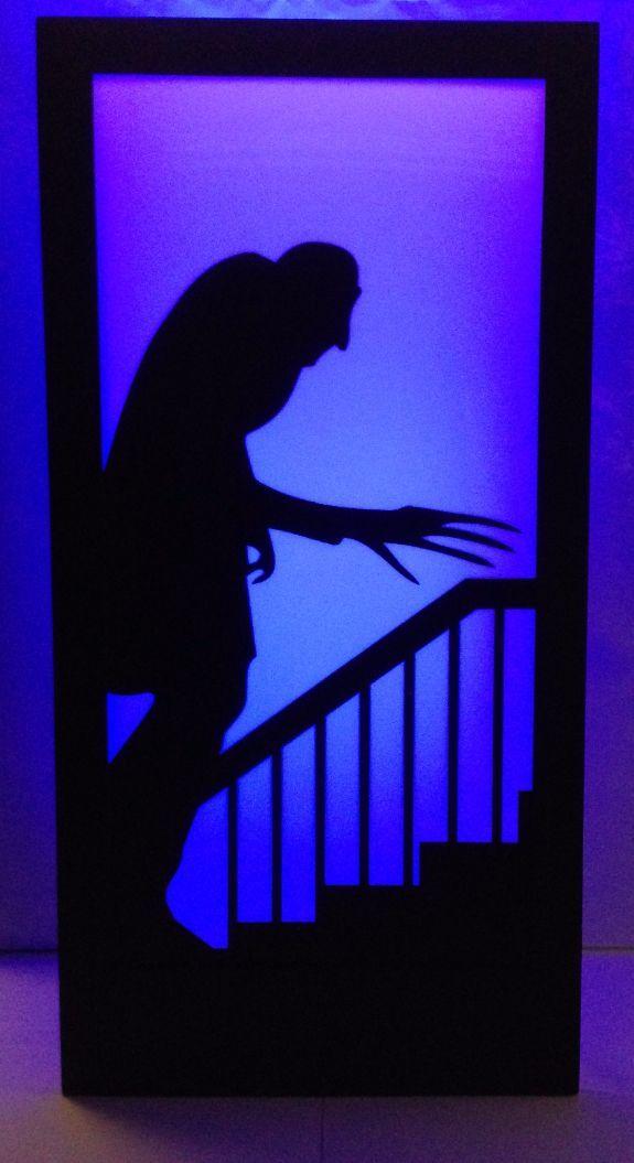 Halloween Nosferatu Silhouette Panel