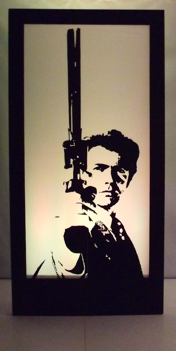 Clint Eastwood Silhouette Panel