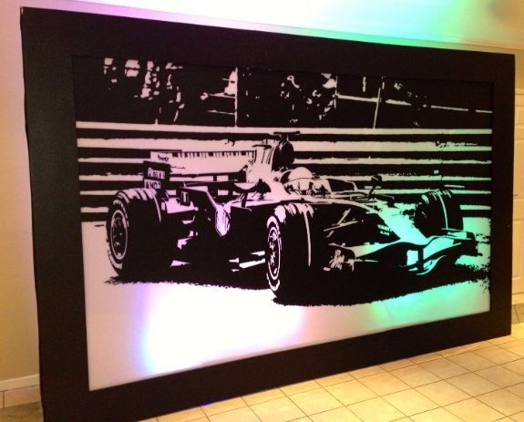 Jenson Button Silhouette Panel