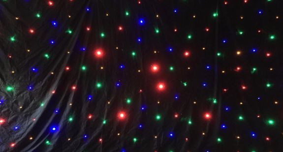 Coloured LED Star Cloth
