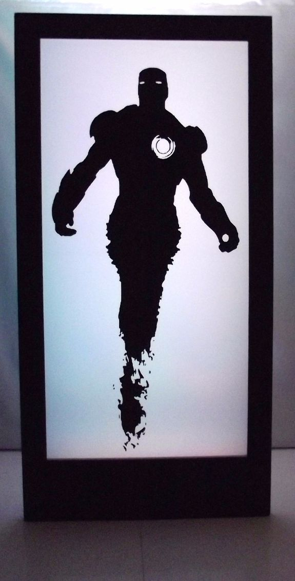 Iron Man Silhouette Panel