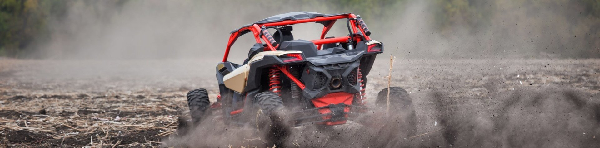 dirt buggy driviing in field