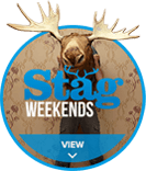 Stag Weekends circle hover logo