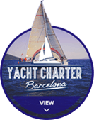Yacht Charter Barcelona circle hover logo