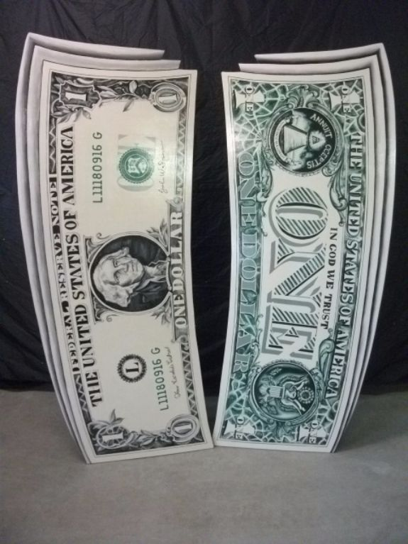 Giant 3D Dollar Bills