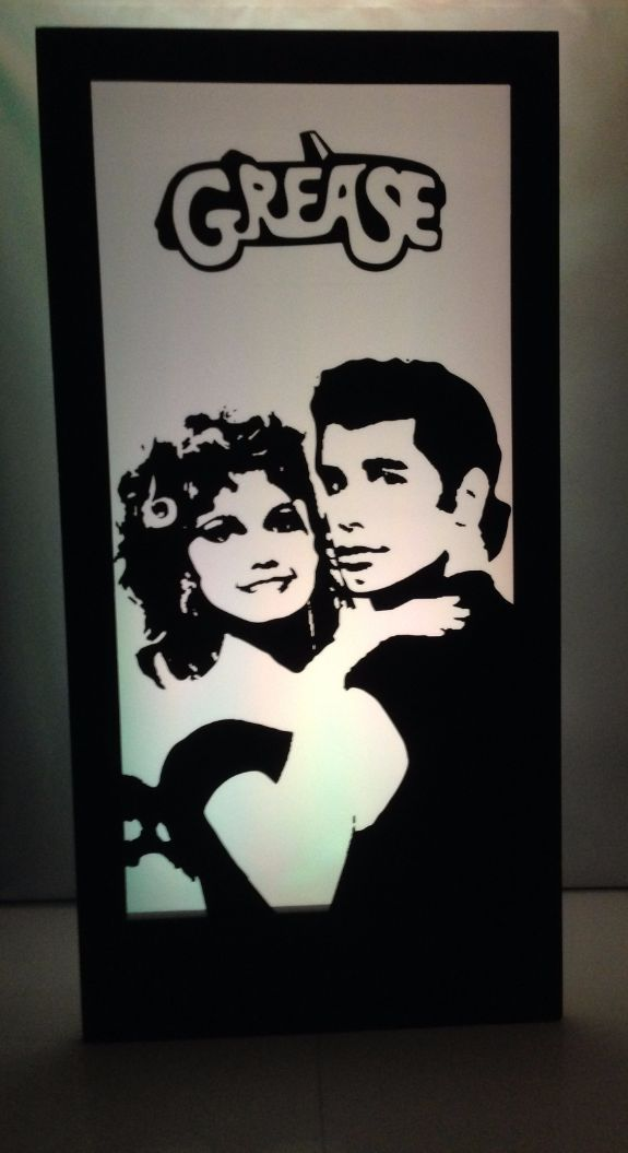 Grease Danny and Sandy Silhouette Panel