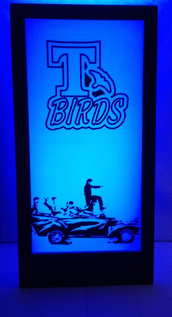 Grease T Birds Silhouette Panel