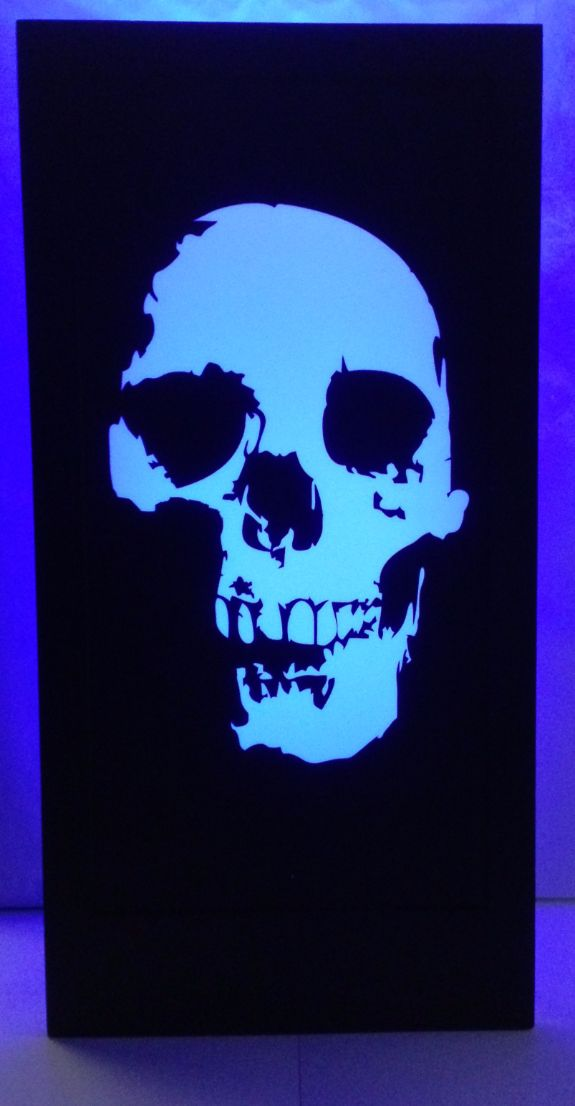 Halloween Skull Silhouette Panel