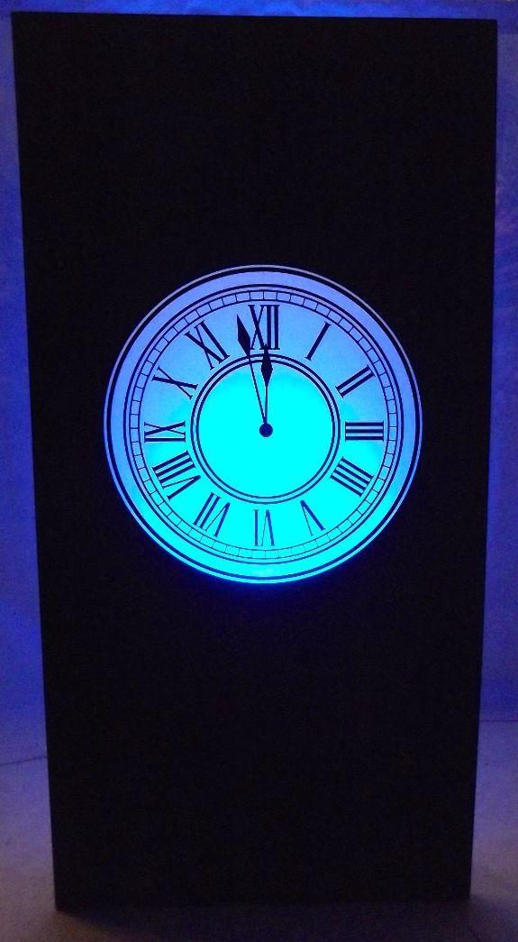 Clock Silhouette Panel