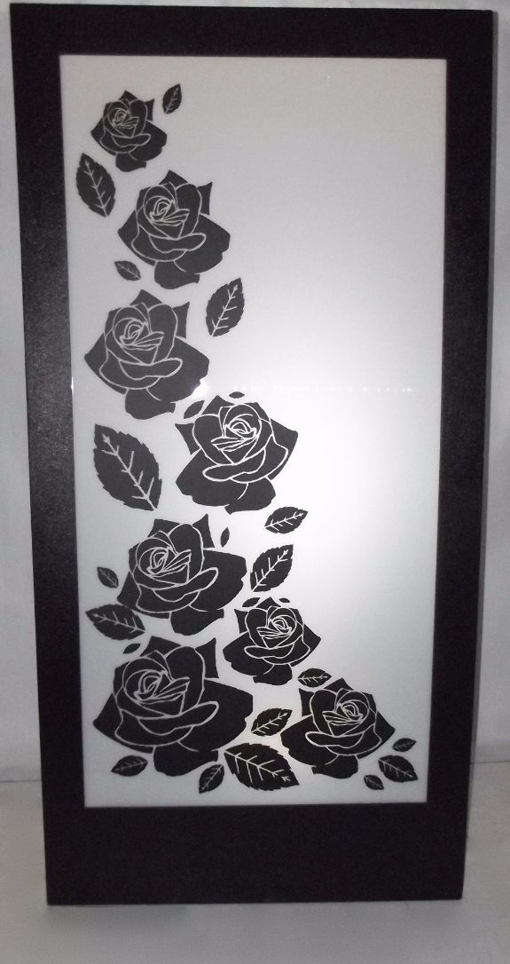 Flowers Silhouette Panel