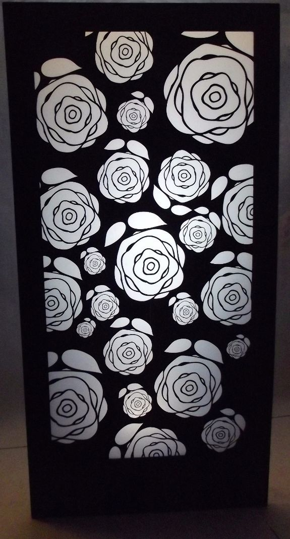 Roses Silhouette Panel