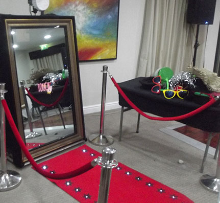 A Selfie Mirror with Props