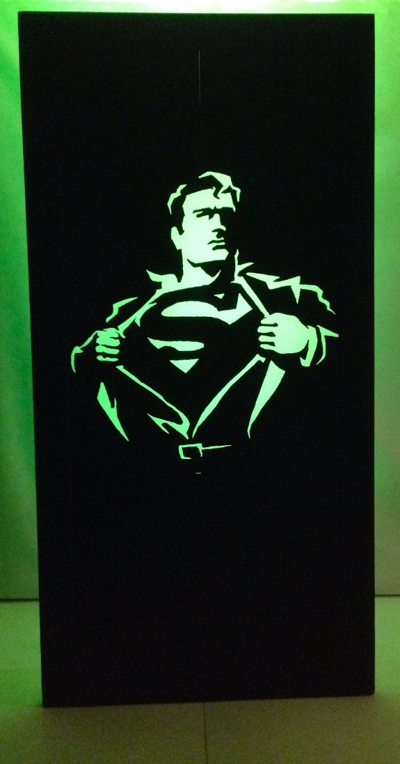 Superman Silhouette Panel